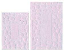 NEW Bathroom Rug Set 2 Pc Lilac Purple 100% Cotton w/ Latex Back Bath Mat Floor