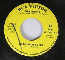 Pop Promo 45 Marilyn Maye - On To Something New / Montage From How Sweet It Is O