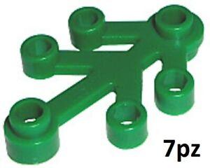 LEGO 2423 FOGLIE PIANTE PLANT LEAVES 4x3 VERDE 7 PEZZI