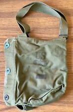 WWII M9A1 Gas Mask Bag United States Chemical Corps Vintage WW2 OD Green