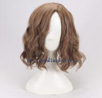 Sirius Black men's brown short wavy curly cosplay wig +a wig cap