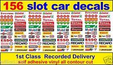 156 x ranura de coche/Scalextric barrera patrocinador con el logotipo de Carrera Lego modelo de pegatinas de vinilo