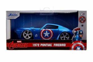 JADA Hollywood Rides 31845 PONTIAC FIREBIRD Captain AMERICA Marvel Avengers 1:32