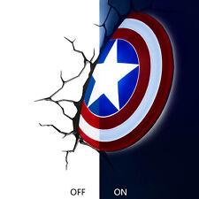 Marvel Avengers Captain America Shield  Deco Wall LED Light Night Toy Gift Xmas