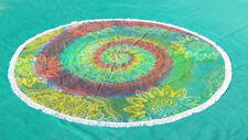 Indian Tie Dye Round Bohemian Tapestry Mandala Beach Throw Towel Yoga Mat Cover