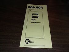 MARCH 1981 CHICAGO RTA ROUTE 804 MONTGOMERY BUS SCHEDULE