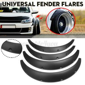 4x Set 75/83cm Universal Flexible Fender Flares Body Arches Wheel Wide Firm Auto