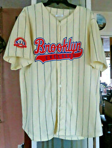Brooklyn Cyclones Season Ticket Holder Striped Jersey Size XL NY Mets Affiliate