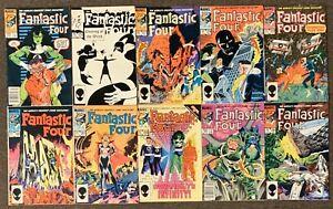 Fantastic Four #275,276,277,278,279,280,281,282,283,284 Marvel Comics 1985 Ser 1