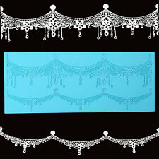 Silicone Lace Mat Mould Crown Jewelry Mold Fondant Cake Sugar Decor Sugarcraft