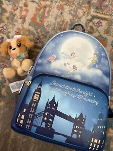 New Loungefly Disney Peter Pan Glow Mini Backpack NWT Plus Nanna Wishable