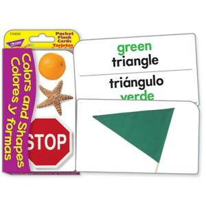 TREND Colors and Shapes/Colores y Formas Pocket Flash Cards