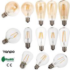 Retro E27 LED Bulb Filament Edison Vintage Light 2W 4W 6W 8W 12W White Lamp 220V