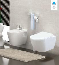 Aloni Spülrandloses Wand Hänge WC Spülrandlos Toilette mit Bidet Taharet