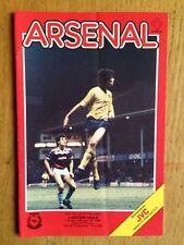 Arsenal v Aston Villa 1985/86 League Cup programme