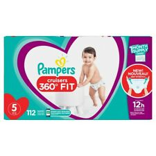 Pampers Size 5, 112 Count - Pampers Pull On Cruisers 360 Fit Disposable Baby