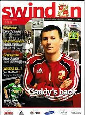 Football Programme>SWINDON TOWN v YEOVIL TOWN Jan 2011