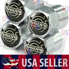 Volvo Logo Valves Stems Caps Covers Metal Chrome Roundel Wheel Tire Emblem USA 2