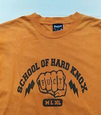 "Vintage 90s Fuct ""School Of Hard Knox"" Skateboard T-Shirt Size Large,Hook Ups,Bl"
