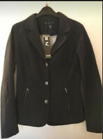 BNWT Horze Womans Adele Show Jacket Navy Size 10 Softshell, Double Vented