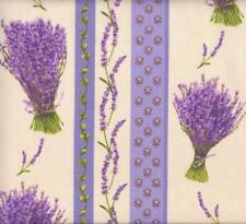 Textiles français Provençal Lavender Stripe (Lavande) fabric - 100% Cotton