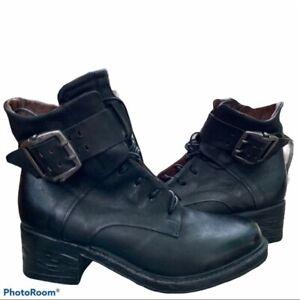 NEW A.S. 98 Nova17 Black Ankle Boots Women's size (EU 39 - US 8.5/9)