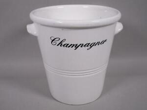 Keramik Flaschenkühler, Eiseimer, Champagnerkühler, ca. 22,5 cm H   1M4019