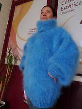 7877997b63 Longhair mohair sweater Pullover Fuzzy T-neck by LanaKnittings