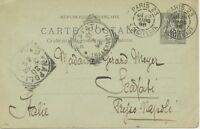 """FRANKREICH 1898 Allegorie 10C K2 """"PARIS 23 / B. DE CITEAUX"""" m 2 SQUARED CIRCLES"""