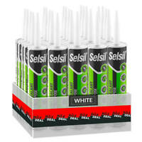 Selsil Premium 280ml White General Purpose Silicone Sealant (25-Pack)
