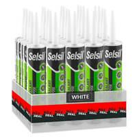 Selsil Premium 280ml White General Purpose Silicone Sealant (25-Pack)