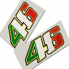 Rossi `46` new style Italian colours  motorcycle decals custom graphics x 2