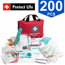 Protect Life 200 Pcs First Aid Medical Emergency + Survival Car Home Travel Kit