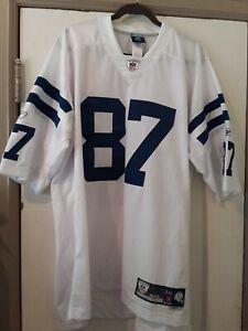 Reebok NFL Authentic Jersey Reggie Wayne Colts 87 White Color Size -2XL new