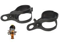 Kleine schwarze Scheinwerfer Blinkerhalter für Oldschool Bobber Chopper Customs
