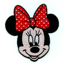 Minnie Mouse - Disney - Red & White Bow - Fully Embroidered Iron On Patch