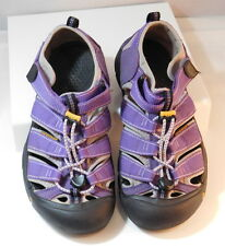 KEEN Youth sz US 4 EU 37 Purple Canvas Leather Waterproof Newport Sandals Shoes