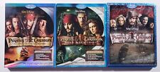 LOT OF 3 (Blu-ray) Pirates of the Caribbean - Dead Man's Chest - At World's End