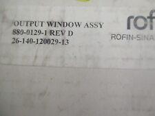 Rofin-Sinar P/N: 880-0129-1 Output Coupler Assembly.  Rev. D.  Good Crib Spares<