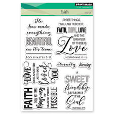 New Penny Black FAITH Clear Stamp Set Verse Sentiments Friends Love Hope Sweet