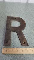 """8"""" Steel Vintage Letter Metal Heavy Duty   LETTER  """" R""""  Industrial"""