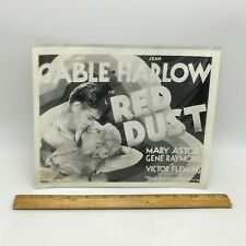 JEAN HARLOW, CLARK GABLE RED DUST MOVIE PHOTOGRAPH