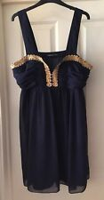 Atmosphere Navy + Gold Dress Size 16