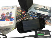 Sony PSP Console Bundle inc Charger, Bag, 10 Movies + Little Britain Series UMD
