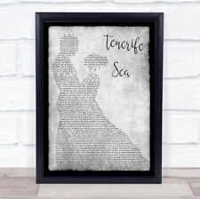 Tenerife Sea Grey Song Lyric Man Lady Dancing Quote Print