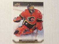 2015-16 Upper Deck UD Canvas JONAS HILLER C14 Flames