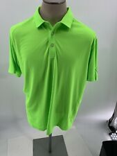 Puma Golf Mens DRYCELL Technology  Stretch Polo Shirt Top Lg Neon Green