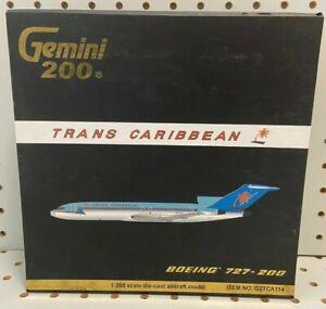 Gemini 1:200 Trans Caribbean Boeing 727-200 Tail N8790R Diecast Plane #G2TCA114