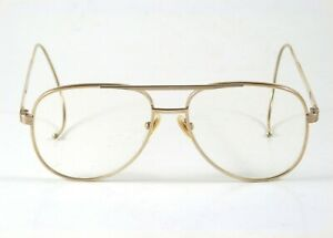 Michael KORS Aviators Eyeglasses RR C/C Frame 56-18 6 3/4 Gold Color Metal