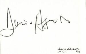 Dario Argento signed autographed album page! AMCo! 5501